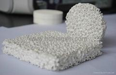Alumina ceramic foam filters for aluminium filtration