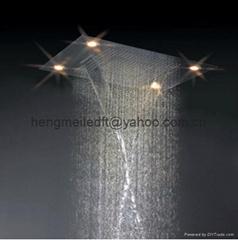 嵌入式頂噴花灑四功能頂噴多功能頂噴花灑瀑布,雨灑頂噴