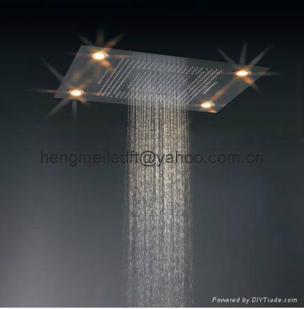 embeded ceiling led shower head 4