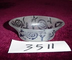 Colored bowl of the glass