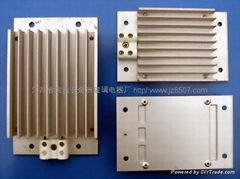 Comb-shaped aluminum heater