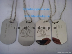 aluminum dog tag, metal tag, laser engraved dog tag