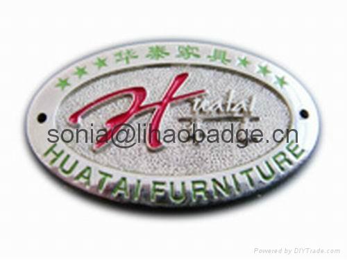 Embossed Metal Labels Furniture Label Furniture Badge Antique Badge Lh4028 Lihao China