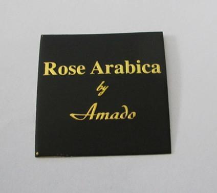 custom perfume bottle label, metal embossed perume sticker 1