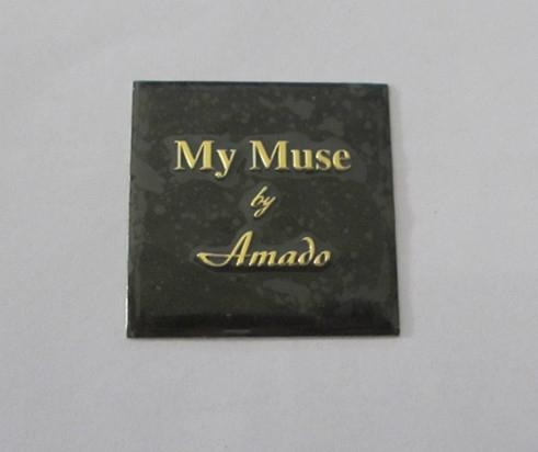 custom perfume bottle label, metal embossed perume sticker 2