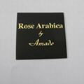 custom perfume bottle label, metal embossed perume sticker 3