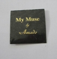custom perfume bottle label, metal embossed perume sticker 4