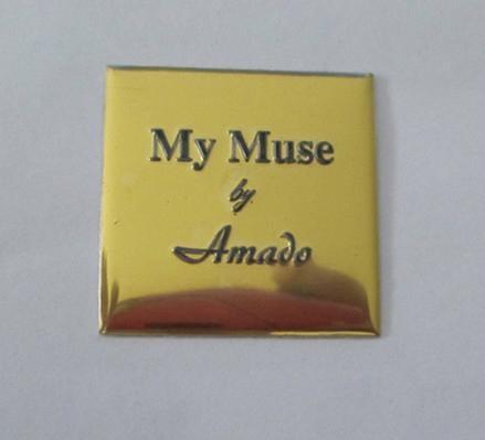 custom perfume bottle label, metal embossed perume sticker 5