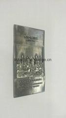 定做高档香水标牌, 香水瓶包装金属标牌, 金属香水标签