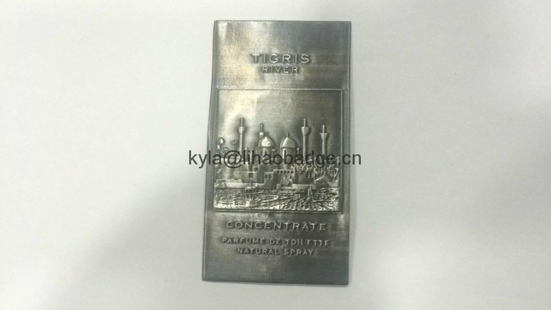 custom UAE perfume metal label 2