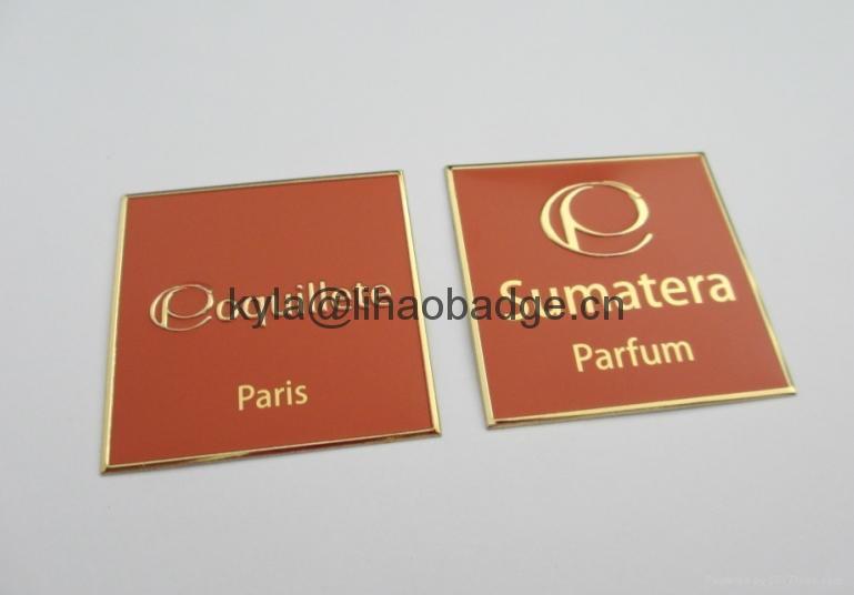 custom UAE perfume metal label 3