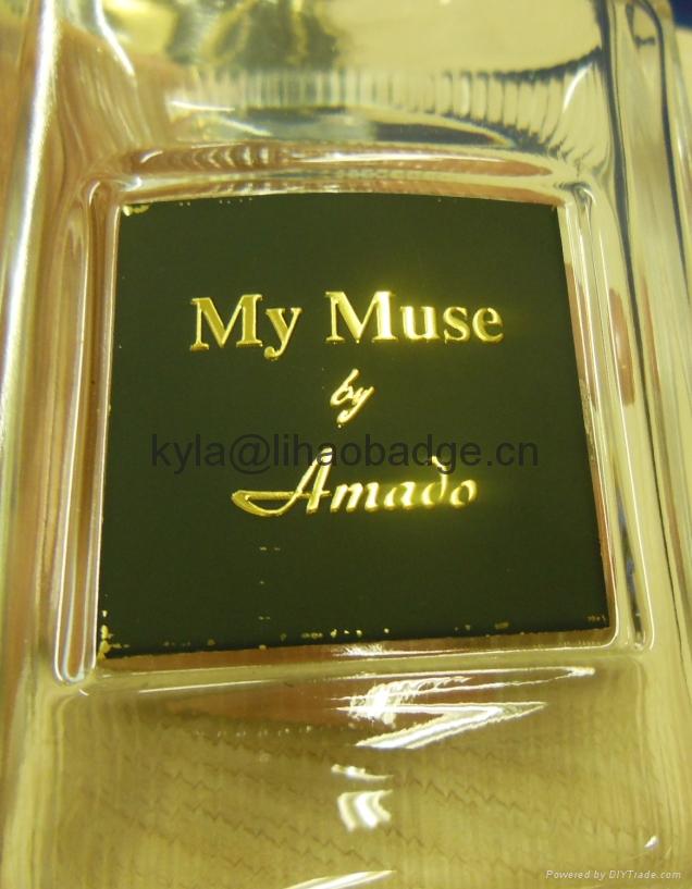 定做高檔香水標牌, 香水瓶包裝金屬標牌, 金屬香水標籤 5
