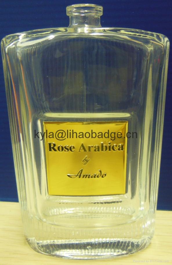 定做高檔香水標牌, 香水瓶包裝金屬標牌, 金屬香水標籤 4