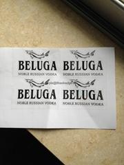 Rossian Noble Beluga Vodka fish label, metal beluga box sticker (Hot Product - 1*)