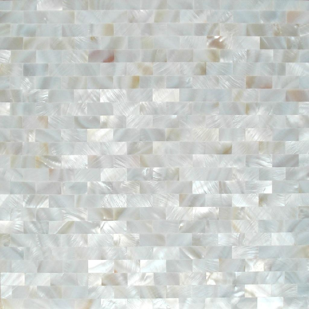 pure white square pattern mother of pearl mosaic tile 1