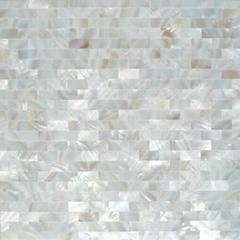 白色珍珠贝母贝壳马赛克长方形工字拼酒柜贴