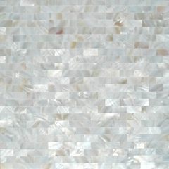 pure white square pattern mother of pearl mosaic tile
