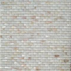 3.5mm麵包形貝殼馬賽克 3D立體凸面背景牆