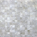 pure white mother of pearl  mosaic