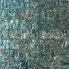 绿色鲍鱼贝壳马赛克卫生间墙面马赛克贝壳纸
