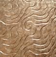 波浪纹软贝金色镜贝贝壳装饰板