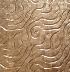 波浪紋軟貝金色鏡貝貝殼裝飾板 馬賽克拼花 客廳電視背景牆