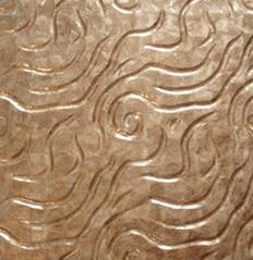 立体波浪纹金色镜贝贝壳装饰板 马赛克拼花 客厅电视背景墙