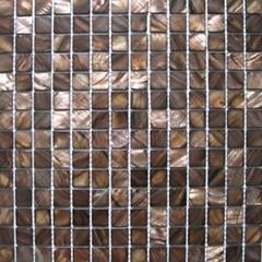 經典深咖色貝殼馬賽克 吧台 背景牆 衛生間牆面裝飾