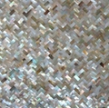 herringbone Brownlip mother of pearl Tiles