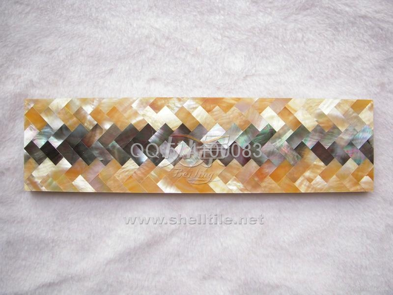 定制贝壳马赛克瓷砖腰线 墙面线条波导线  1