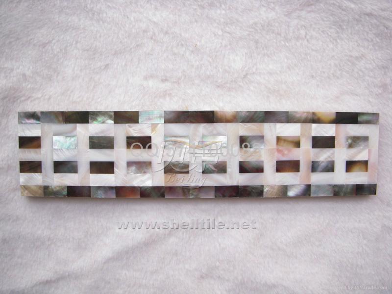 定制贝壳马赛克瓷砖腰线 墙面线条波导线  4