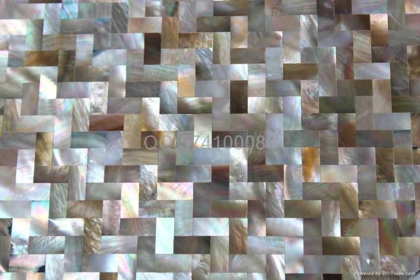 人字形企鹅贝壳马赛克密拼无缝装饰板炉灶墙面 3