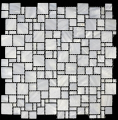 2016 new Multisize Pattern Pure white Mother of Pearl Shell Mosaic