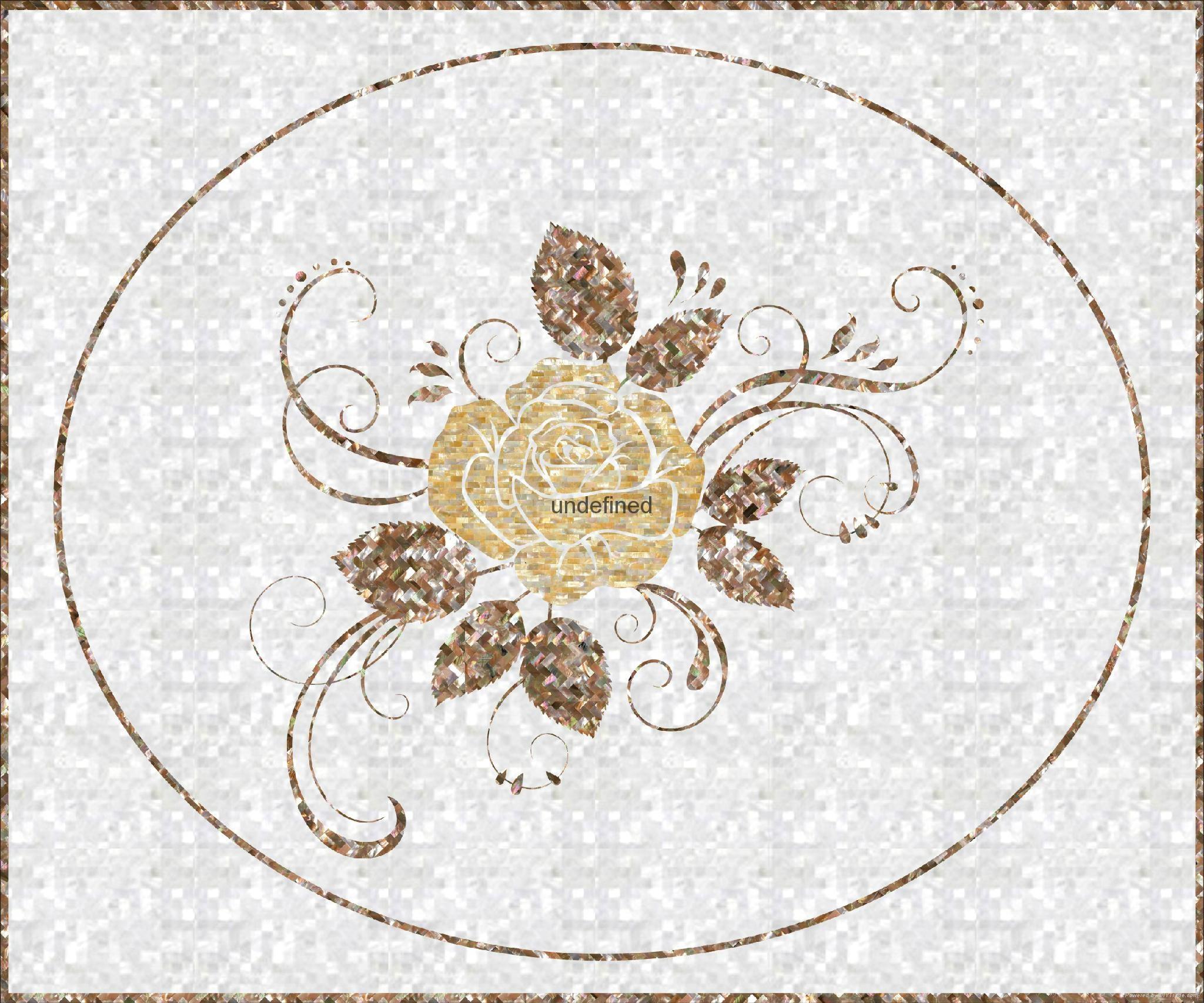 贝壳马赛克雕花装饰板图片