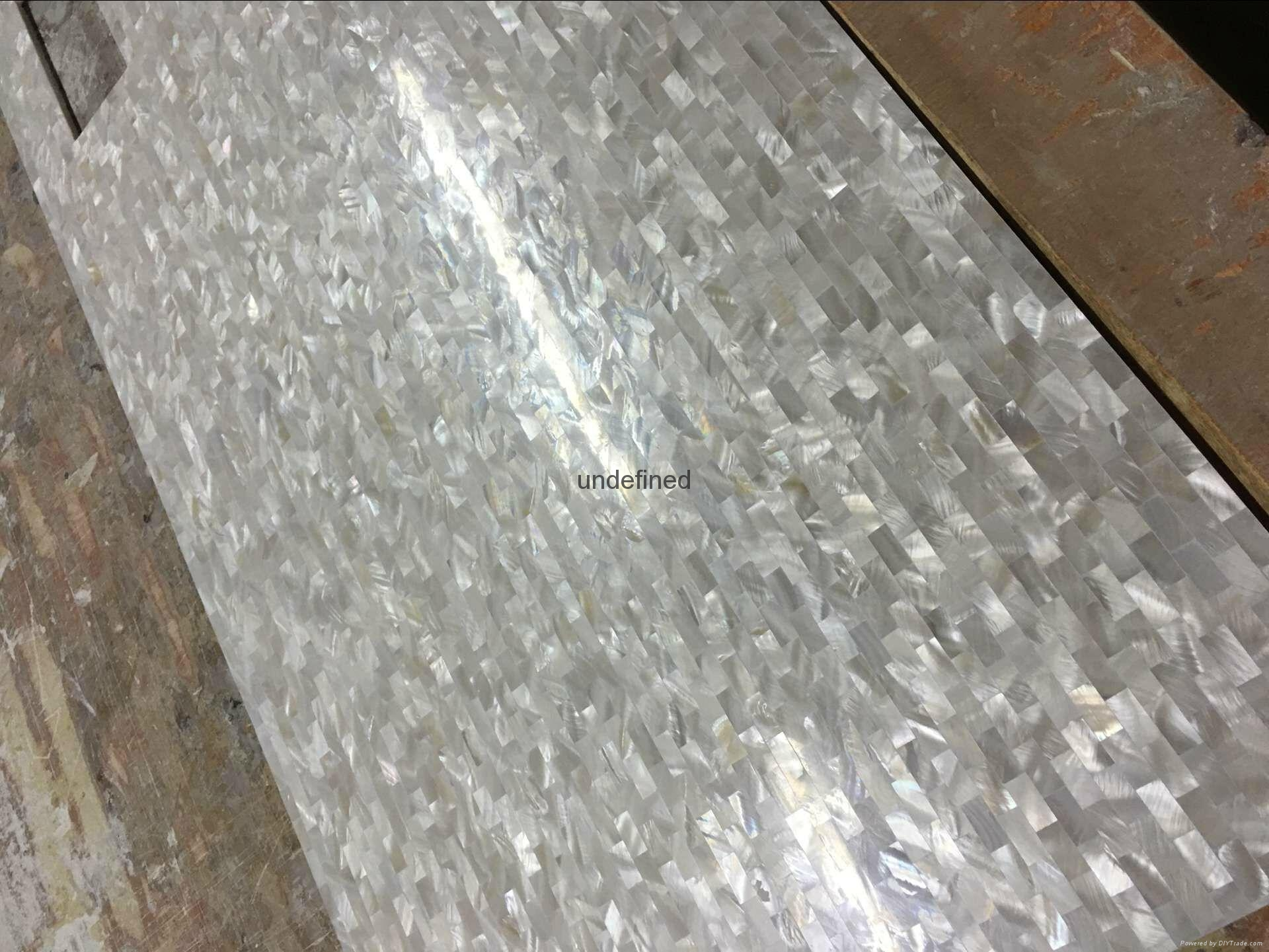 pure white square pattern mother of pearl mosaic tile 5