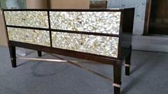 定制贝壳马赛克密拼装饰板镶嵌家具贝壳桌面