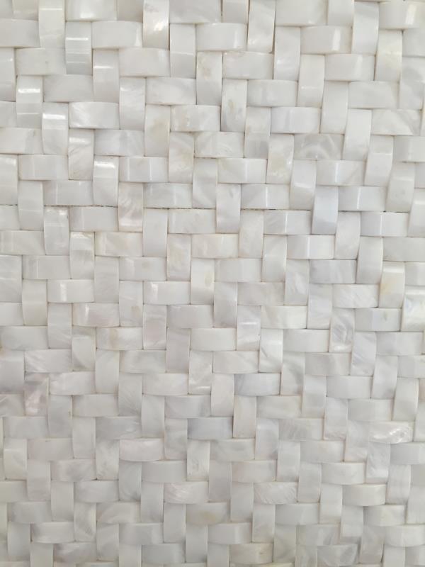 3.5mm面包形贝壳马赛克 3D立体凸面背景墙 2