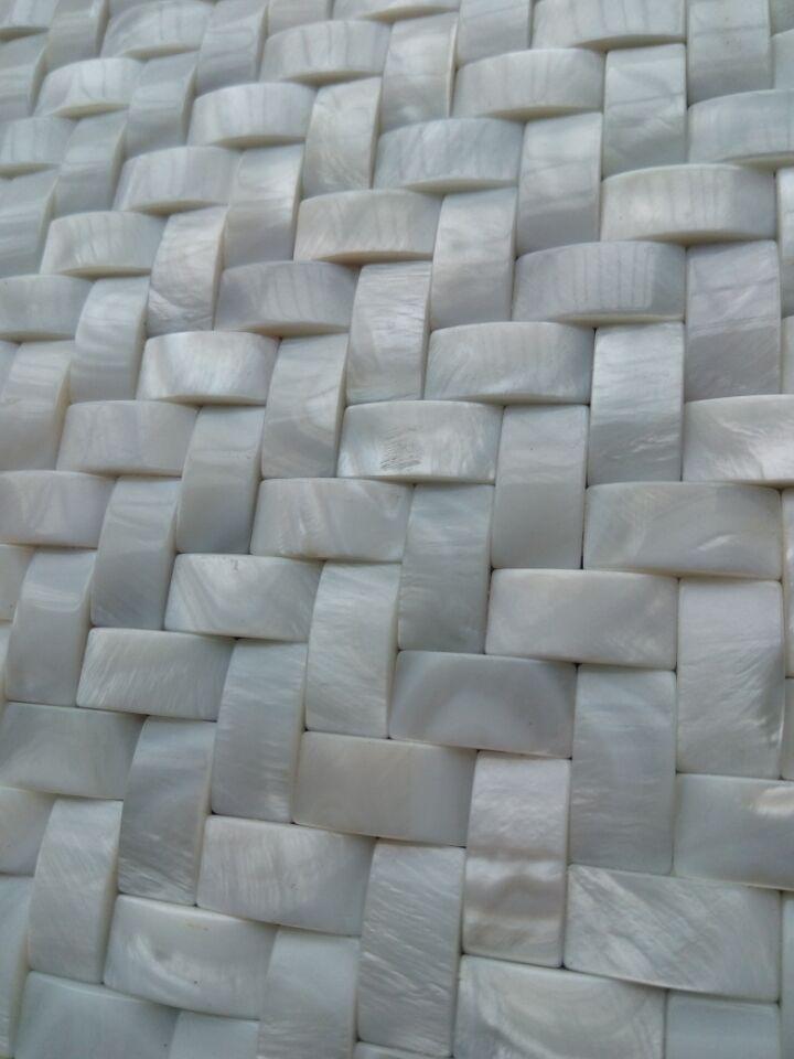 3.5mm面包形贝壳马赛克 3D立体凸面背景墙 3