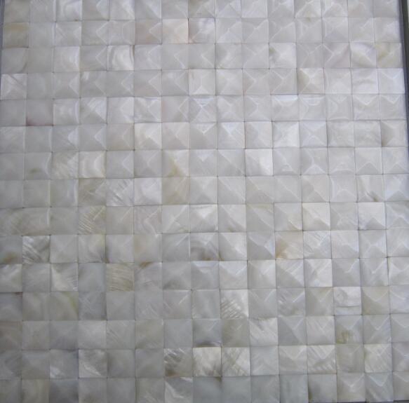 3.5mm面包形贝壳马赛克 3D立体凸面背景墙 4