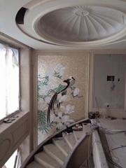 私人定製復古歐式手工雕刻貝殼裝飾畫貝殼馬賽克拼花