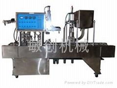 廣東梧州自動杯狀豆漿灌裝封口機