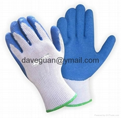 Construction work gloves 5's T/C yarn liner latex palm coated gloves