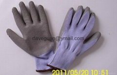 Safety latex coated gloves
