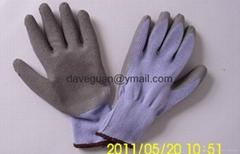 Safety latex coated glov
