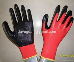 Cheap work gloves nitrile coated nylon
