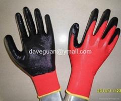 Cheap work gloves nitri