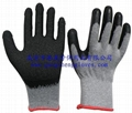2's poly-cotton gloves latex coating 1