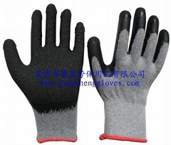 2's poly-cotton gloves latex coating