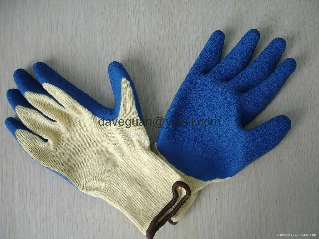 Construction work gloves 5's T/C yarn liner latex palm coated gloves 3