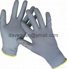 PU palm coated gloves